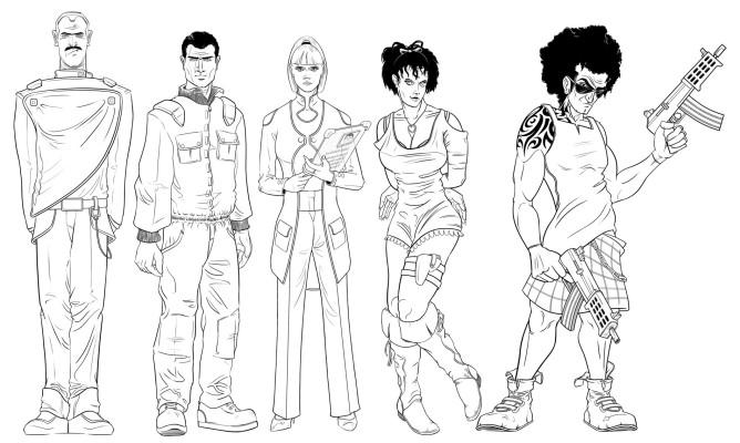 But'n'Ben A-Go-Go character designs